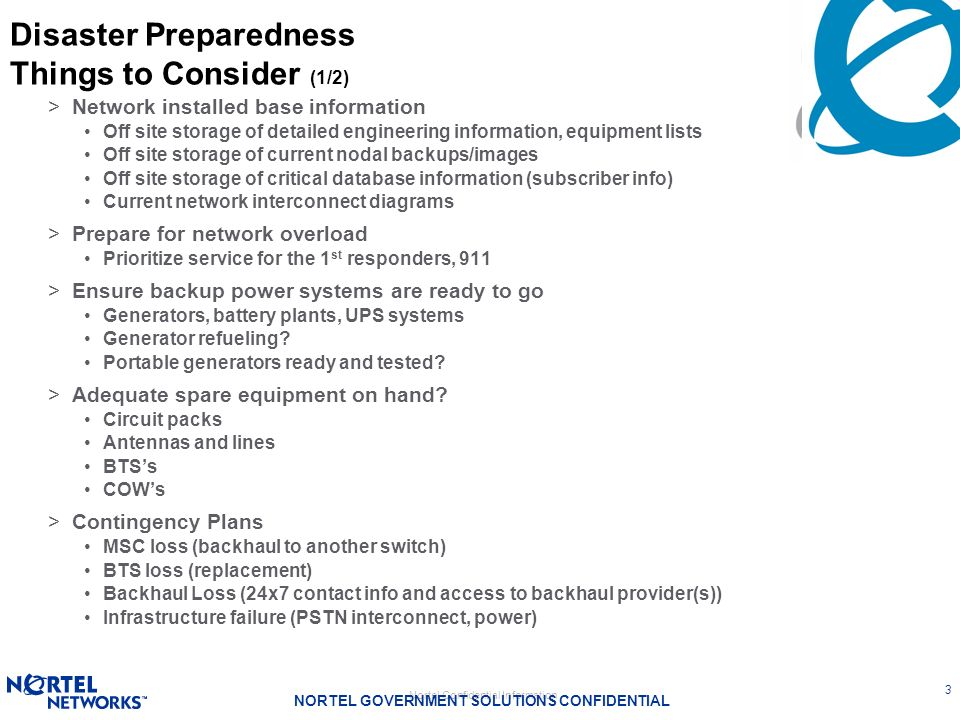 Disaster Preparedness Things to Consider (1/2)