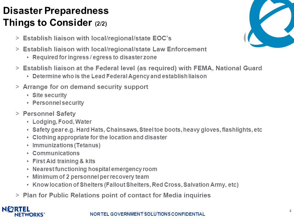 Disaster Preparedness Things to Consider (2/2)