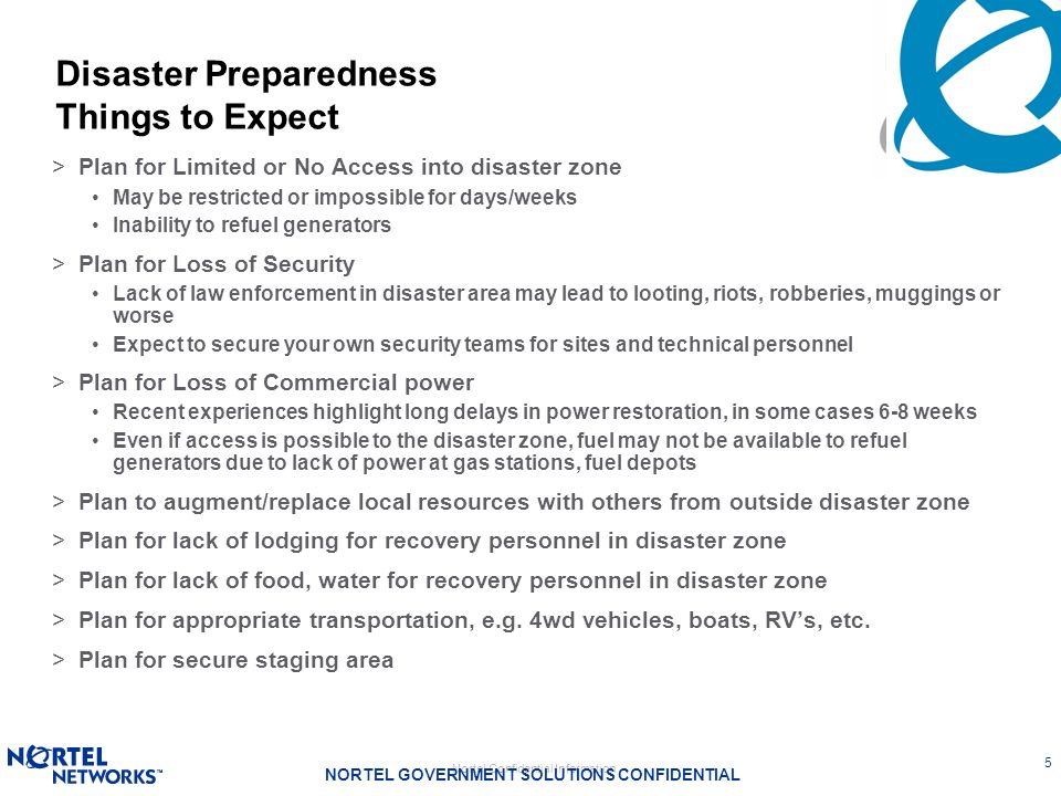 Disaster Preparedness Things to Expect