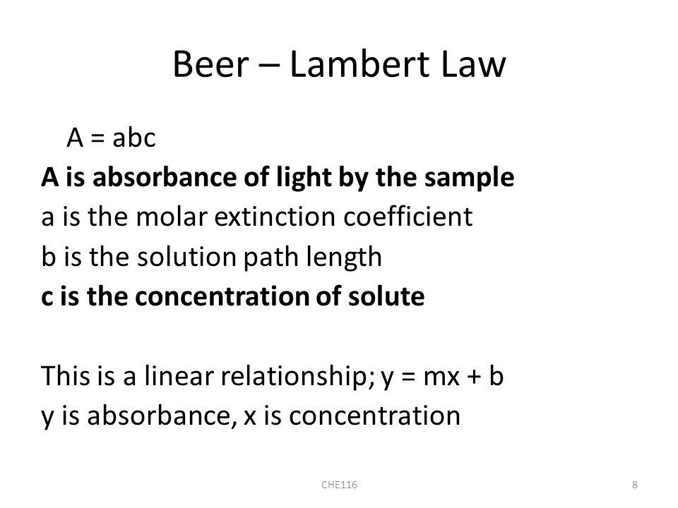 path length and absorbance relationship tips