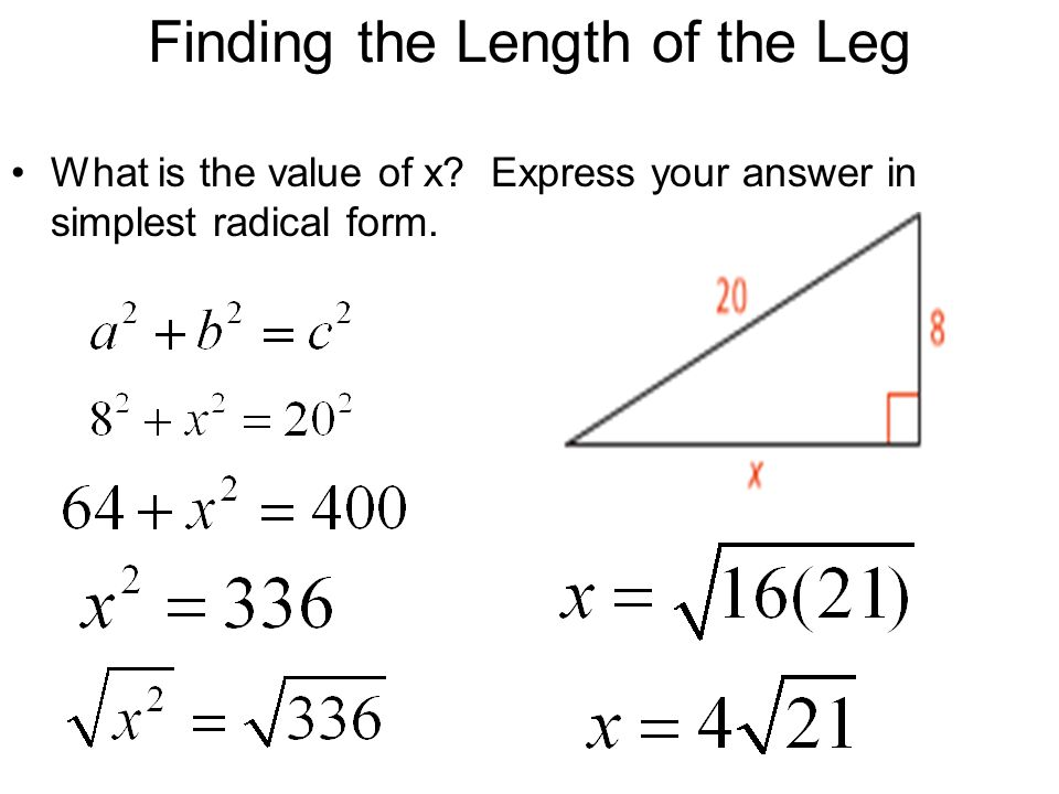 81 Pythagorean Theorem and Its Converse ppt video online download – Simplest Radical Form Worksheet