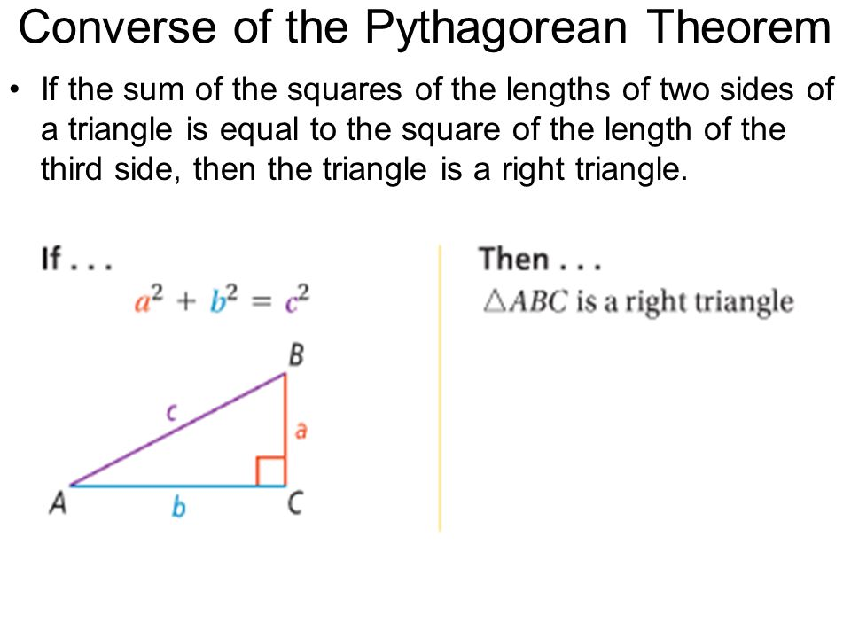 8.1 Pythagorean Theorem and Its Converse - ppt video ...