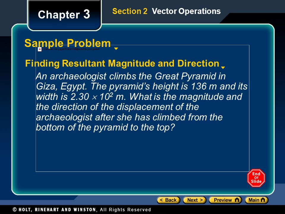 Chapter 3 Sample Problem Finding Resultant Magnitude and Direction