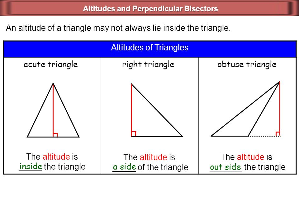 how to work out acute triangle side