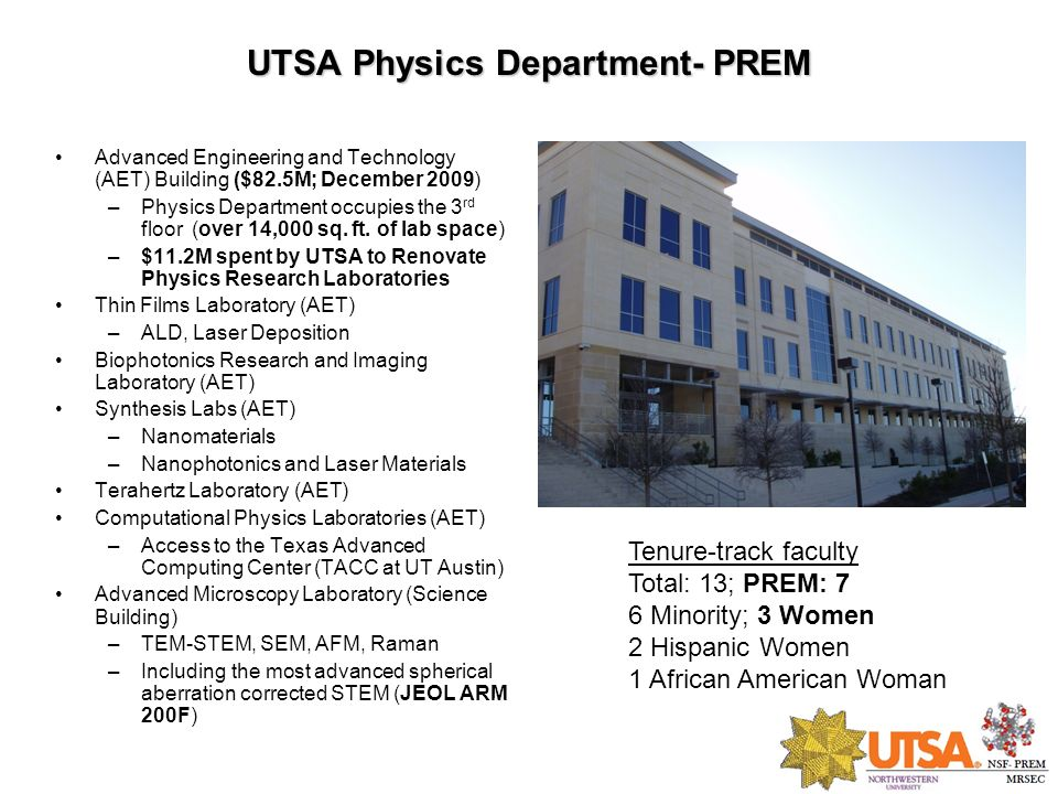 UTSA Physics Department- PREM
