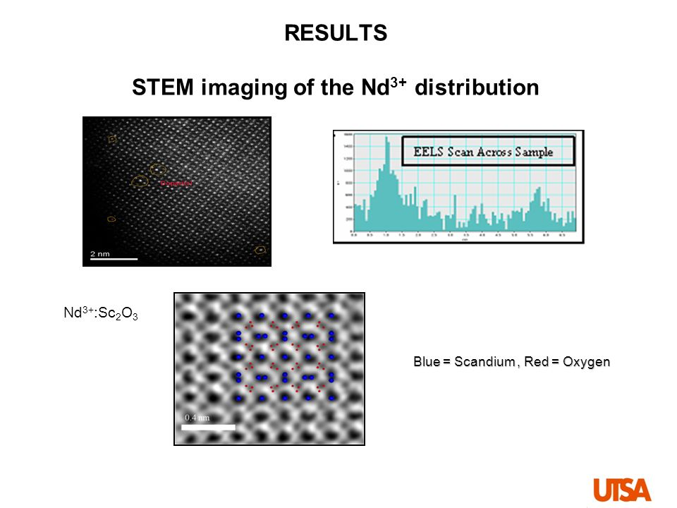 RESULTS STEM imaging of the Nd3+ distribution