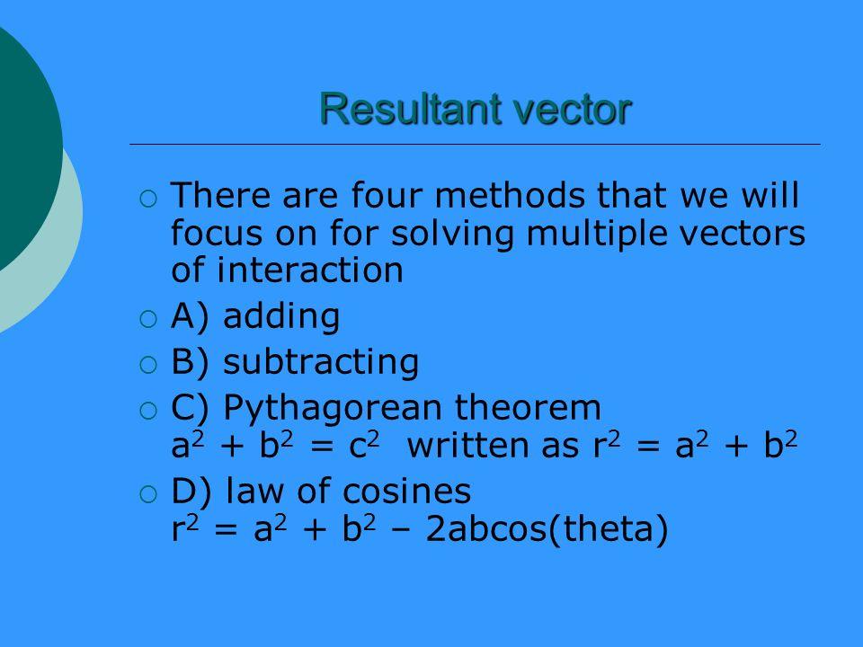 Subtracting multiple vectors