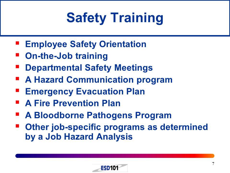 job specific orientation plan