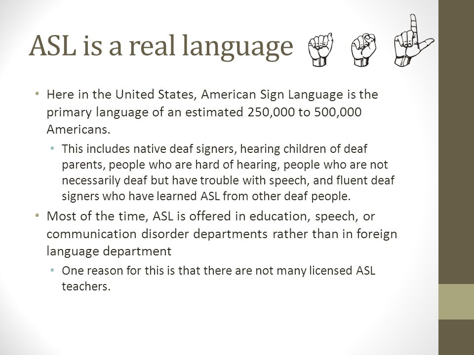 asl vs oralism essay Oralism was the education of deaf children using the spoken language, while american sign language: 'it's not mouth stuff – it's brain stuff.
