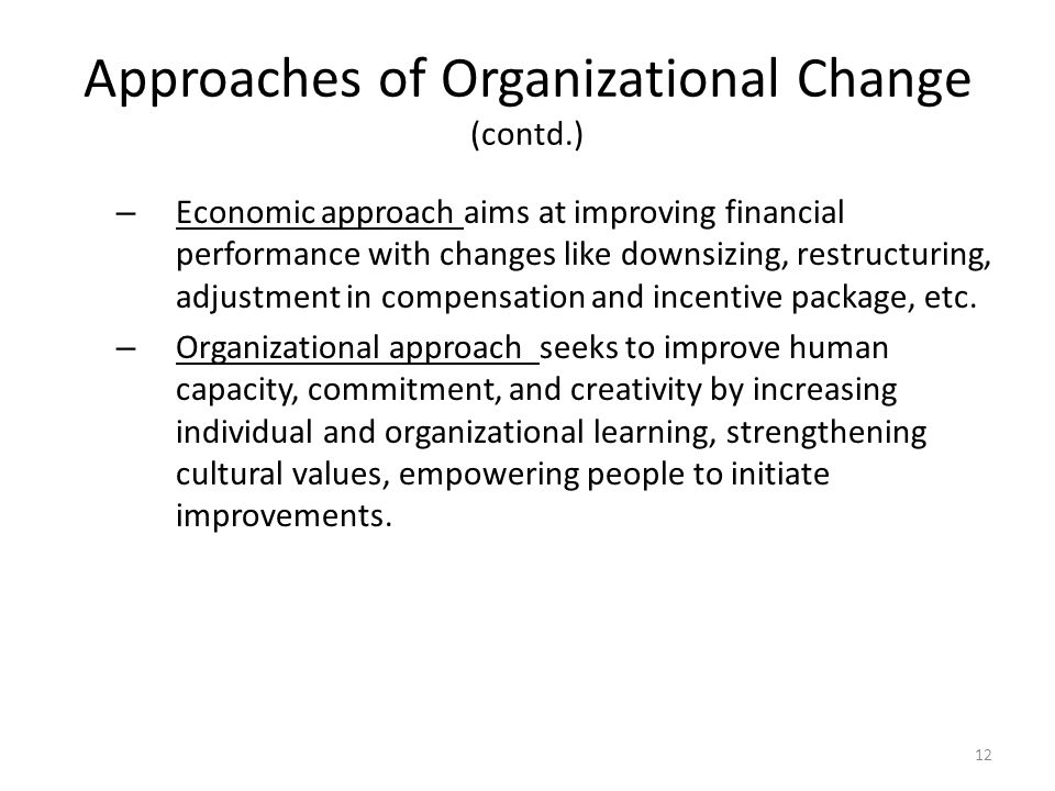 Organizational Learning and Change Management