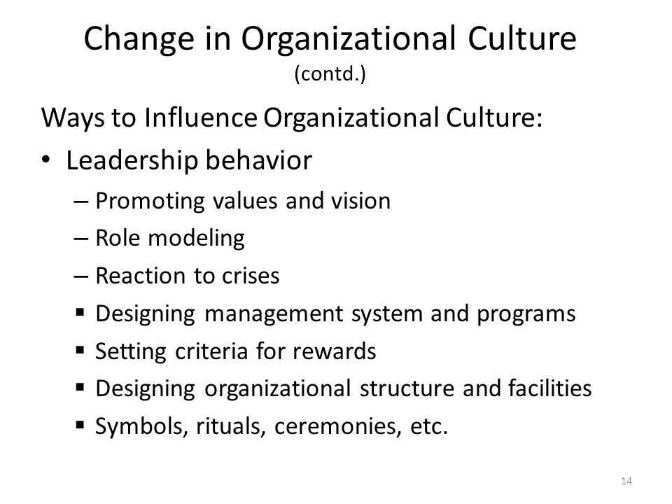 Leadership, Influence And Change Management