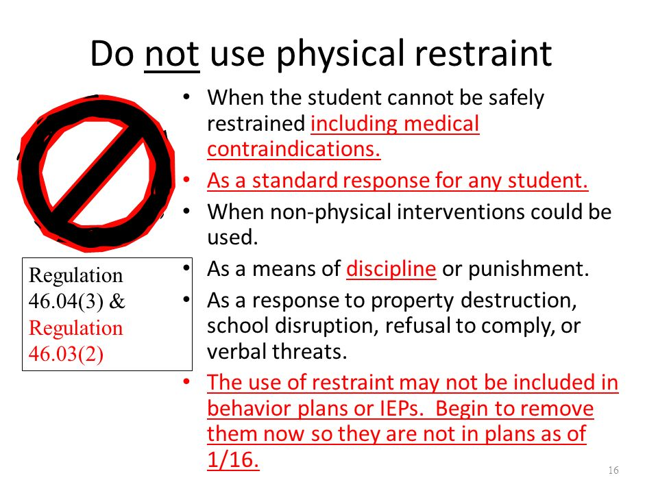 limitations on physical restraint Pros and cons of physical restraint share author christina jones, phd nurse consultant, critical care rehabilitation whiston hospital prescot,.