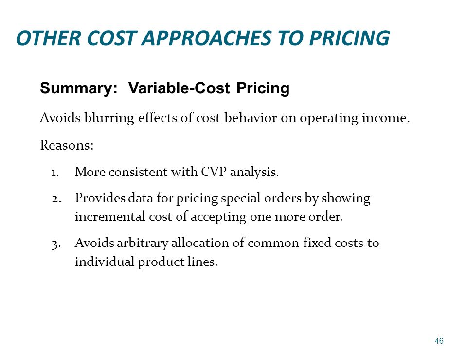 Cost Allocation and Profitability
