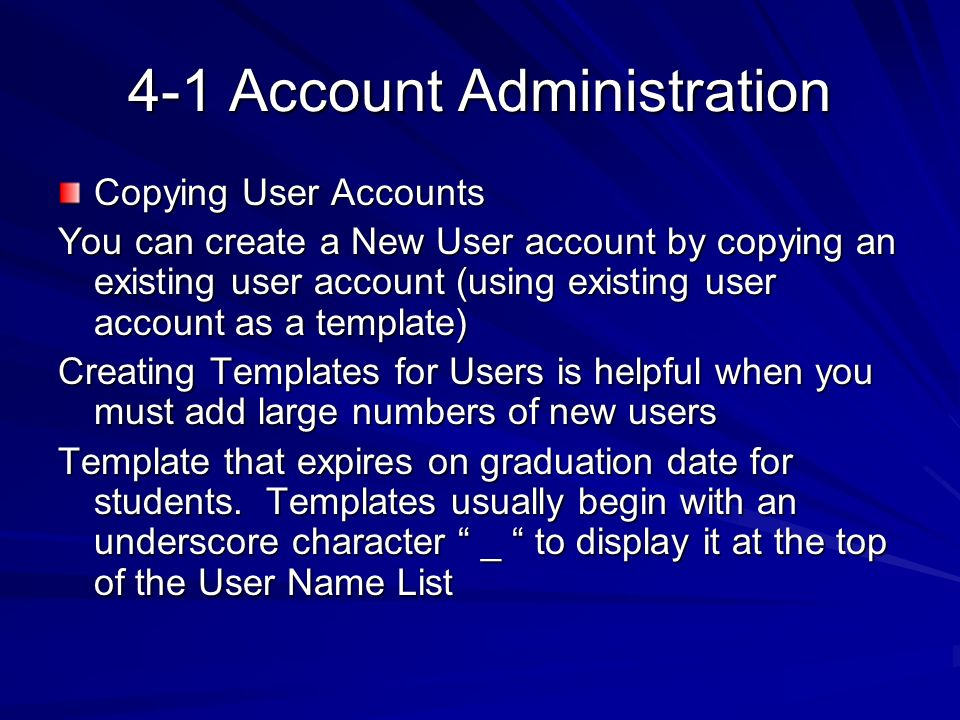 4-1 Account Administration