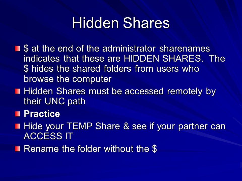 Hidden Shares