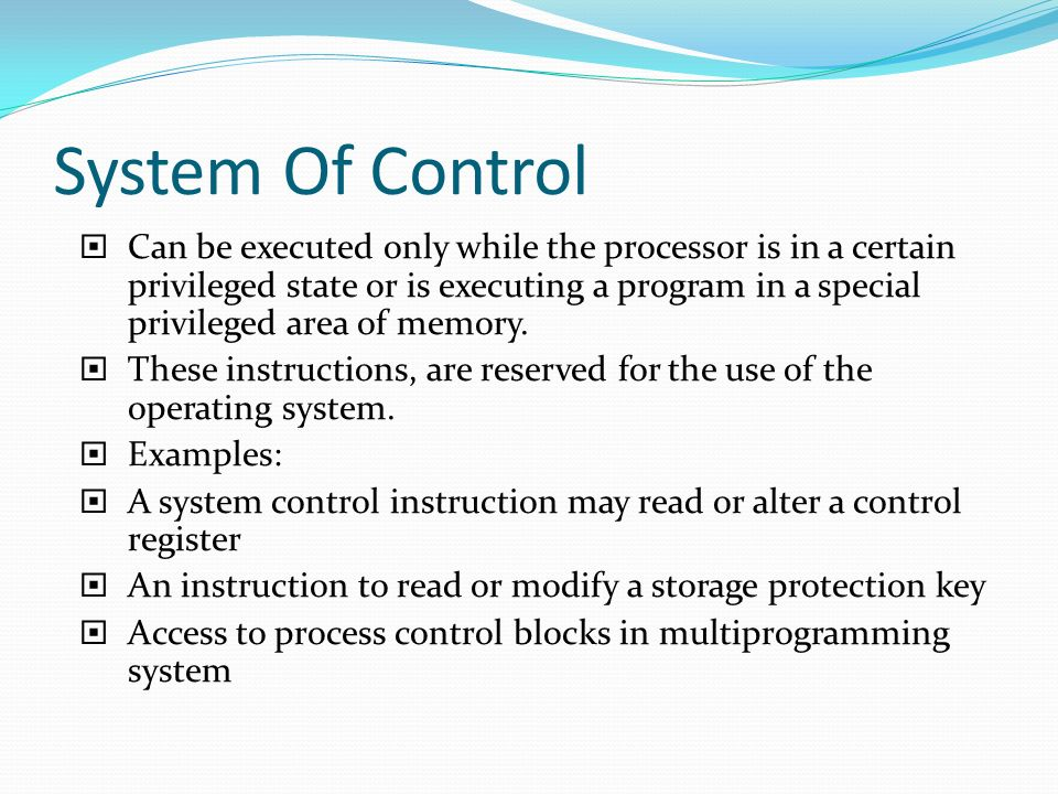 System Of Control