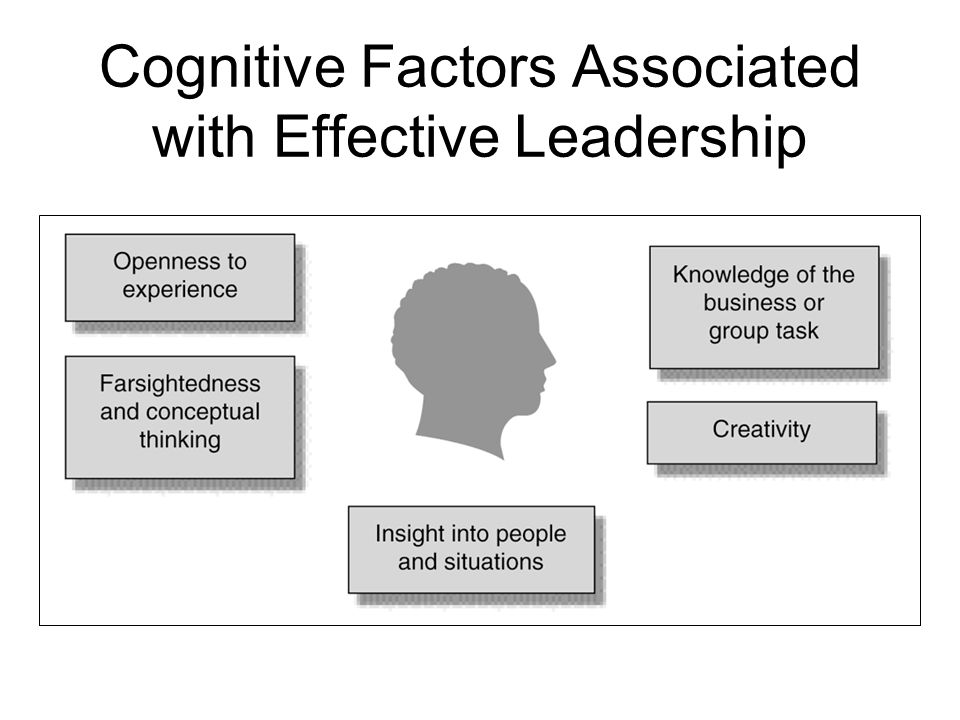 Cognitive Factors Associated with Effective Leadership