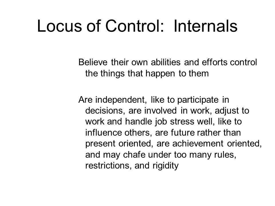 Locus of Control: Internals