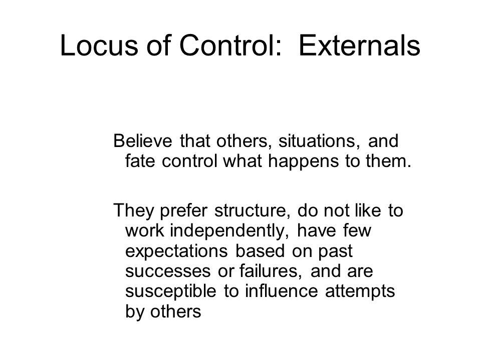 Locus of Control: Externals