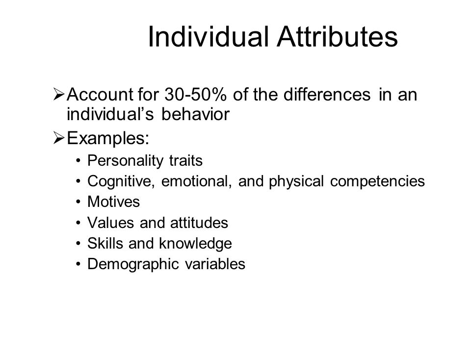 Individual Attributes