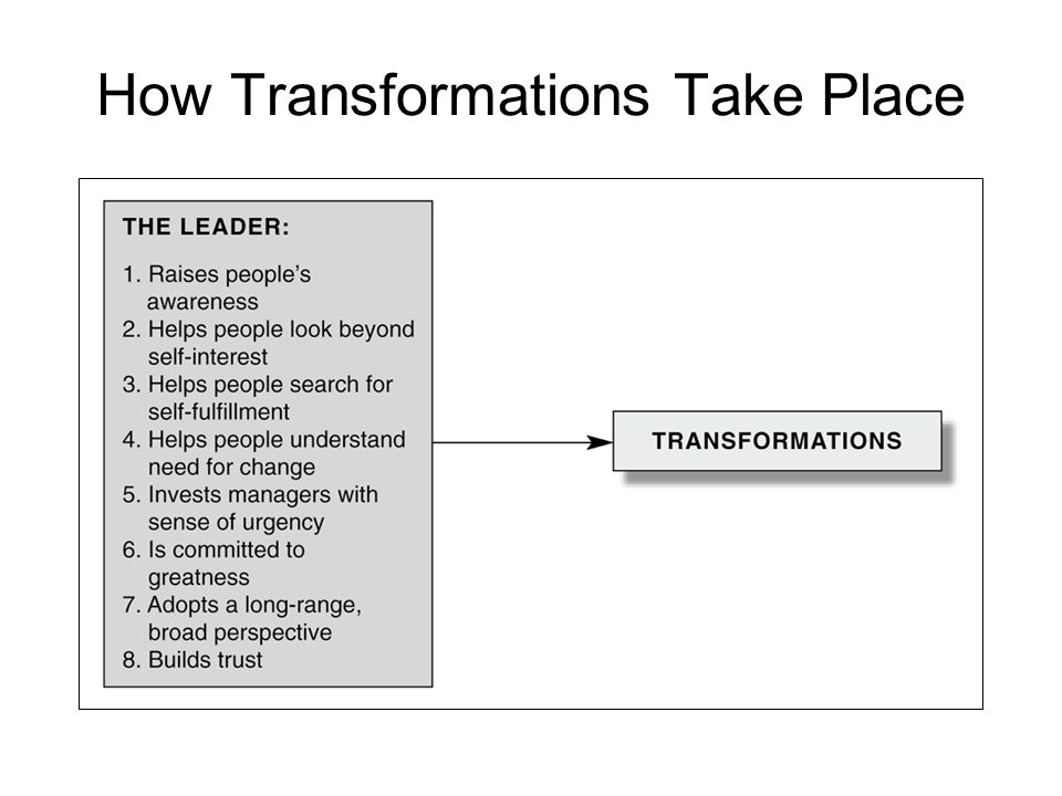 How Transformations Take Place
