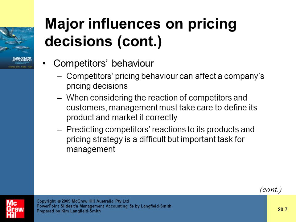 9 Factors Influencing Pricing Decisions of a Company