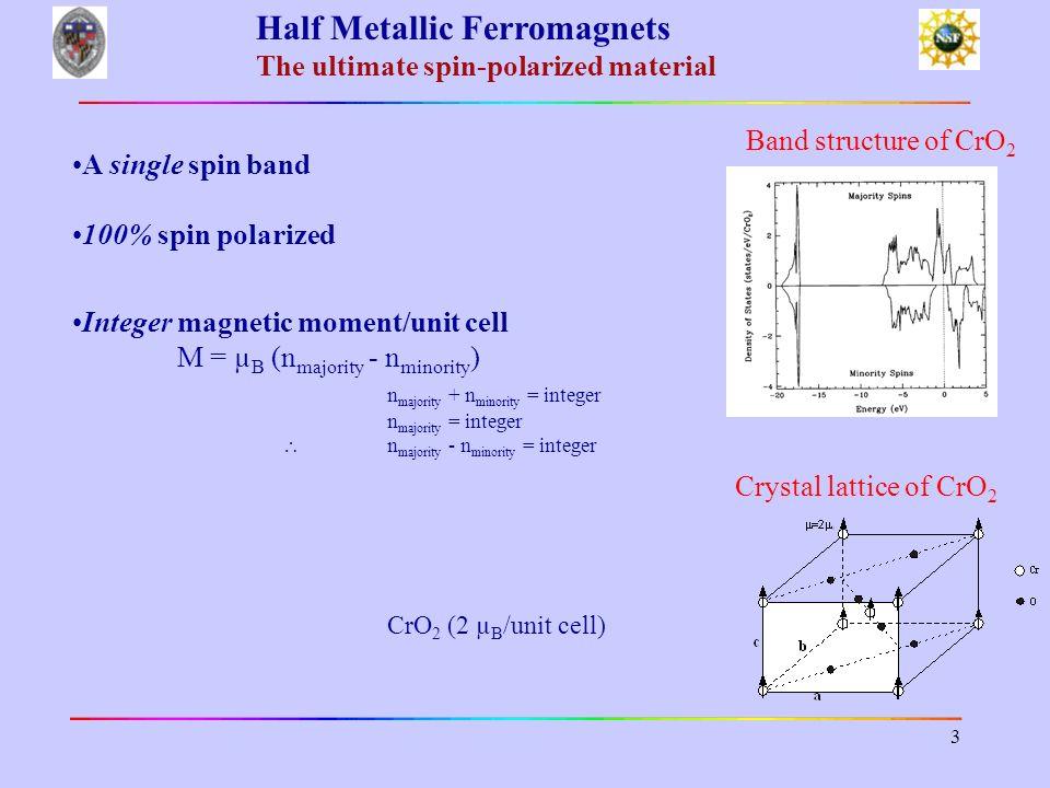 Half Metallic Ferromagnets