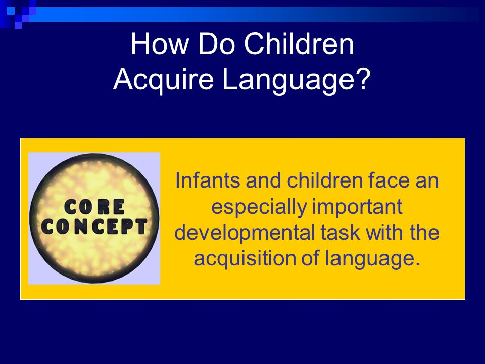 how children acquire language essay This is an essay i had to write for my child development class how do children learn or sing to the child once they hear a language so many times.