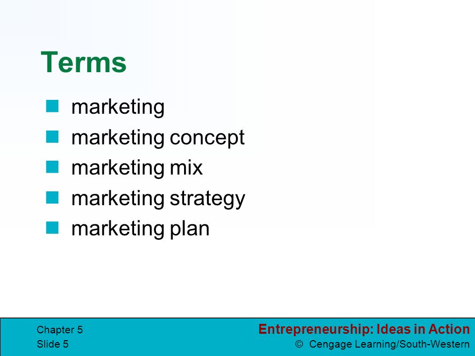 Marketing strategy terms