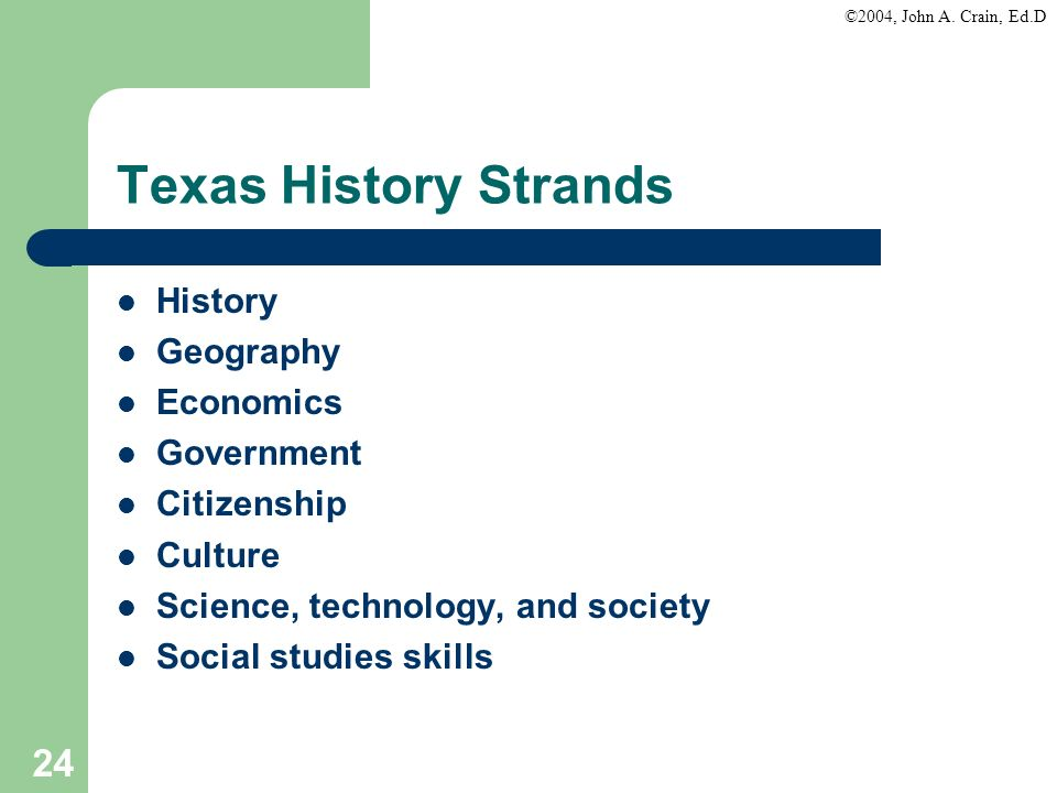 Texas History Strands History Geography Economics Government