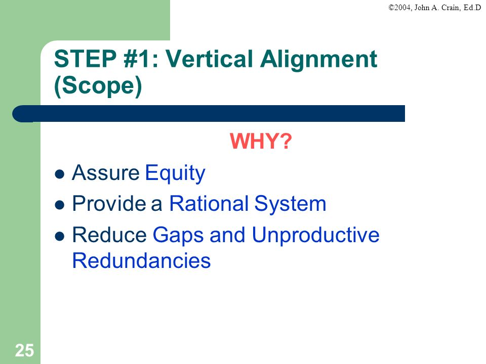 STEP #1: Vertical Alignment (Scope)