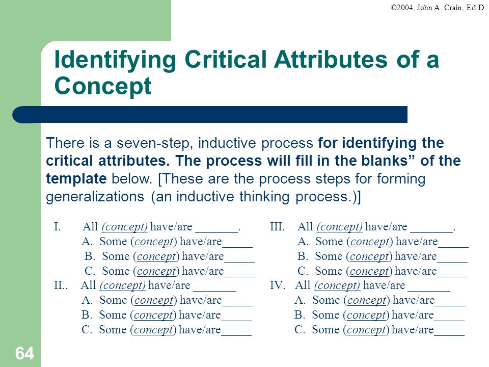Identifying Critical Attributes of a Concept