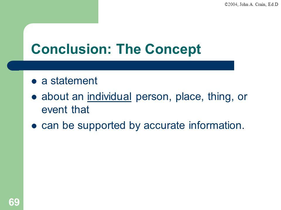 Conclusion: The Concept