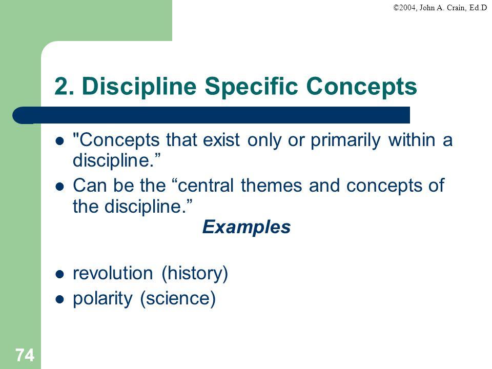 2. Discipline Specific Concepts