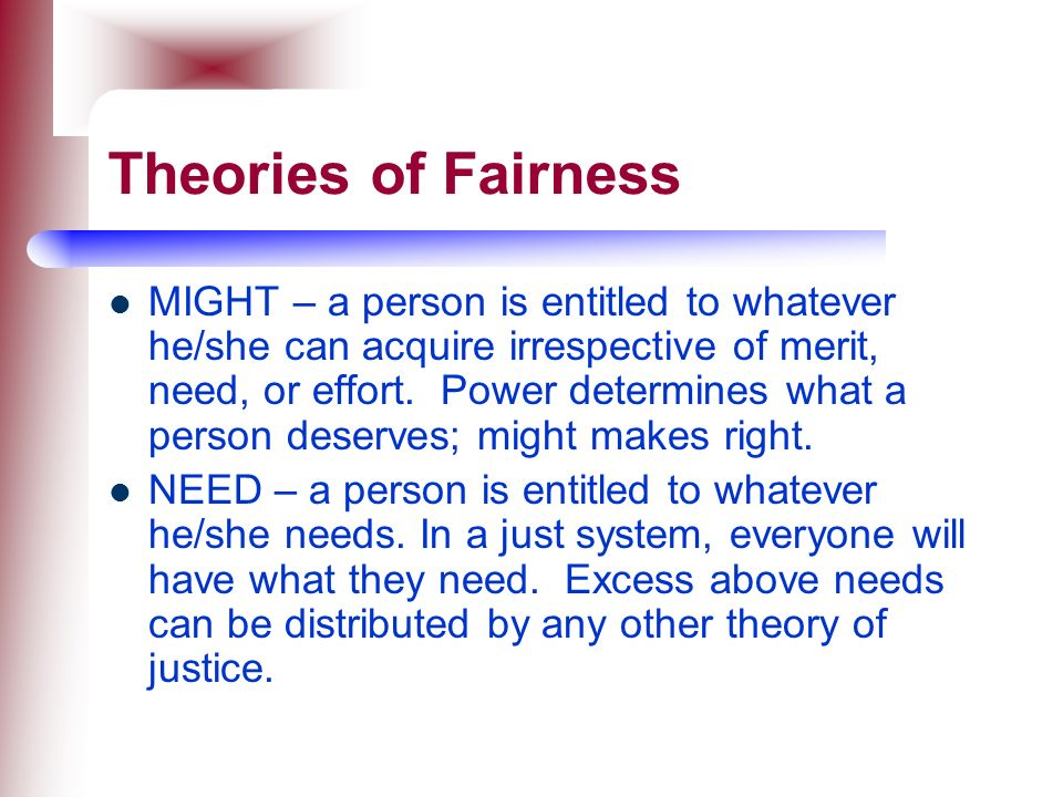 Theories of Fairness