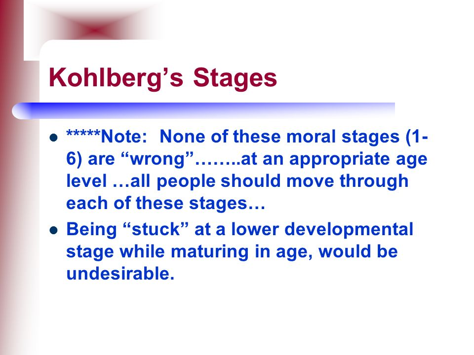 Kohlberg's Stages