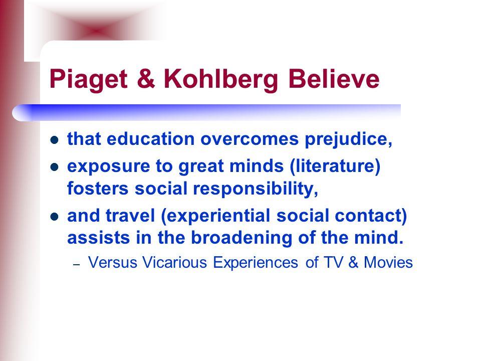 Piaget & Kohlberg Believe