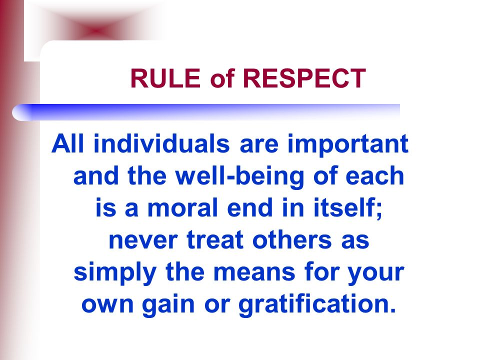 RULE of RESPECT