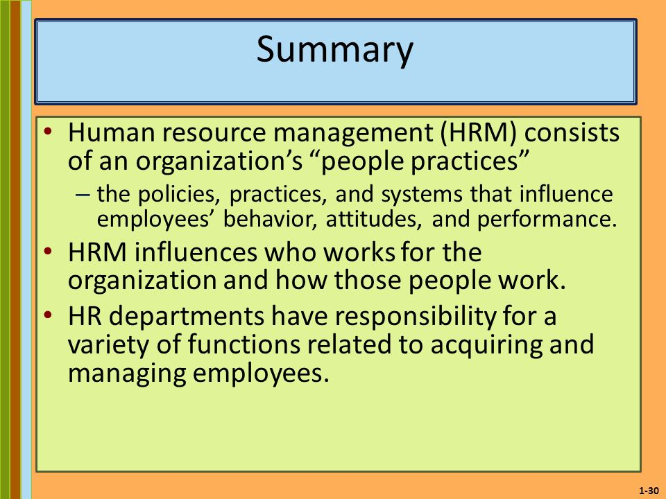 human resource management summary Convince employers they should call you for an interview by crafting a stellar resume use our human resources resume samples as a guide to get started.