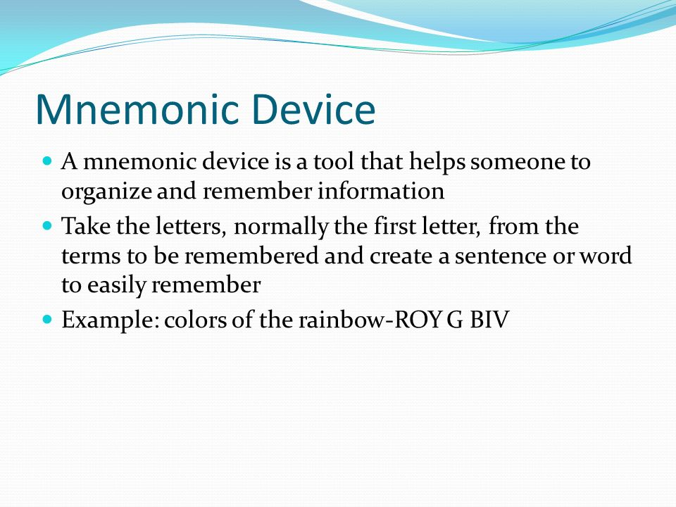 Mnemonics Jaclyn Mather Ppt Download