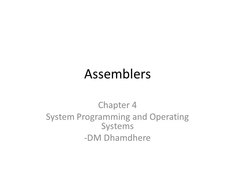 system programming chapter 2 C++ programming - chapter 2 from wikibooks, open books for an open an operating system is responsible for making sure that everything on.