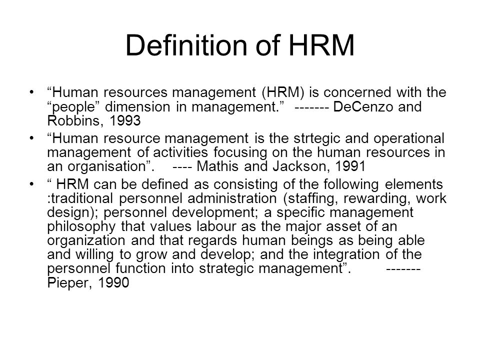 hrm human resource management Human resources managers — 9 percent, a little faster than average  you'll  need at least a bachelor's degree to gain entry into the field, but those who  pursue a master's in human resources or labor relations will have a competitive  edge.