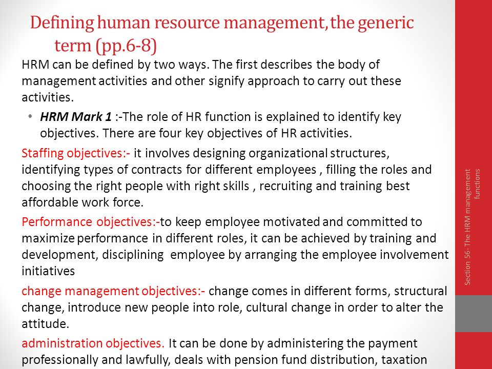 Five Different Perspectives of Human Resource Management