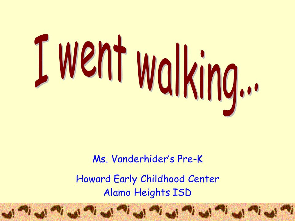 I went walking... This is the culminating activity of a unit on wild animals. The students took a field trip to the San Antonio zoo,