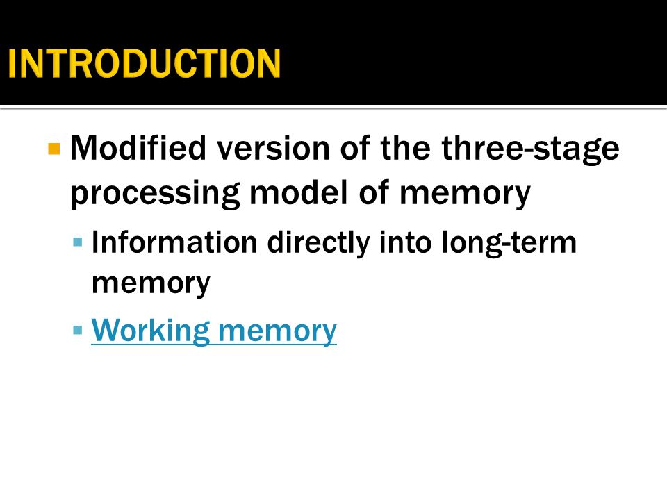 trace steps to long term memory