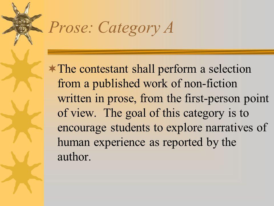 Prose: Category A