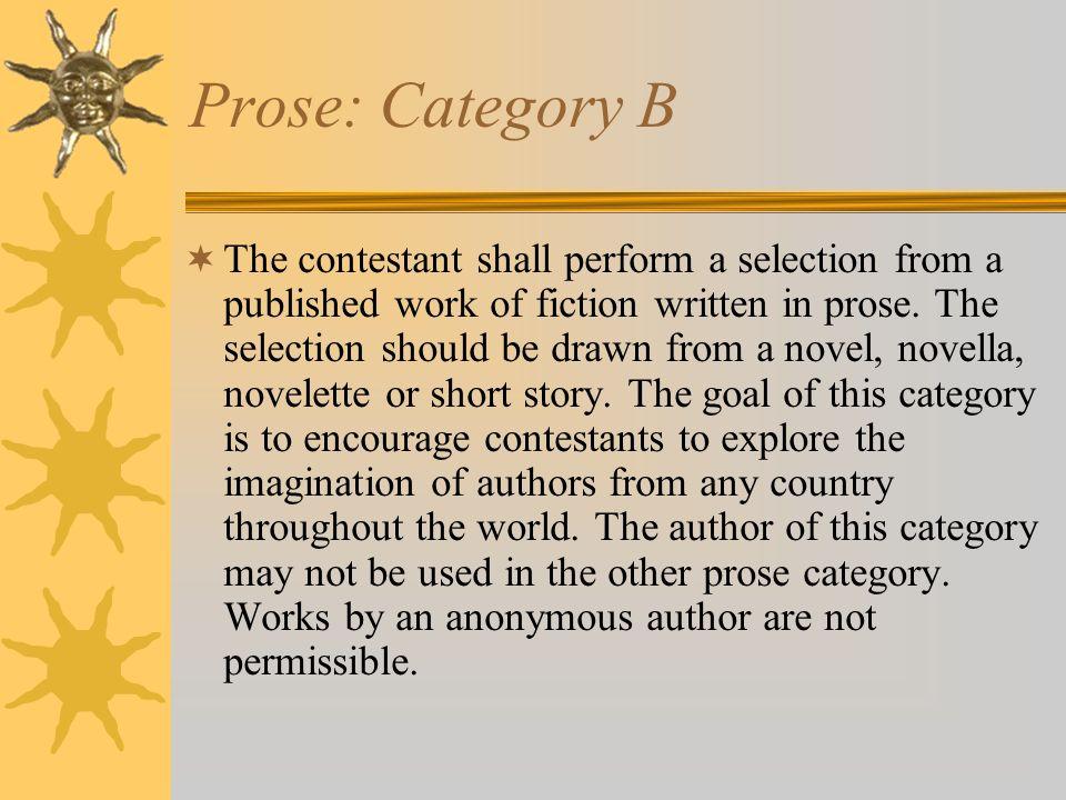 Prose: Category B