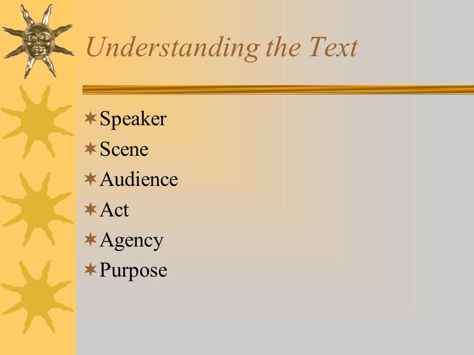 Understanding the Text