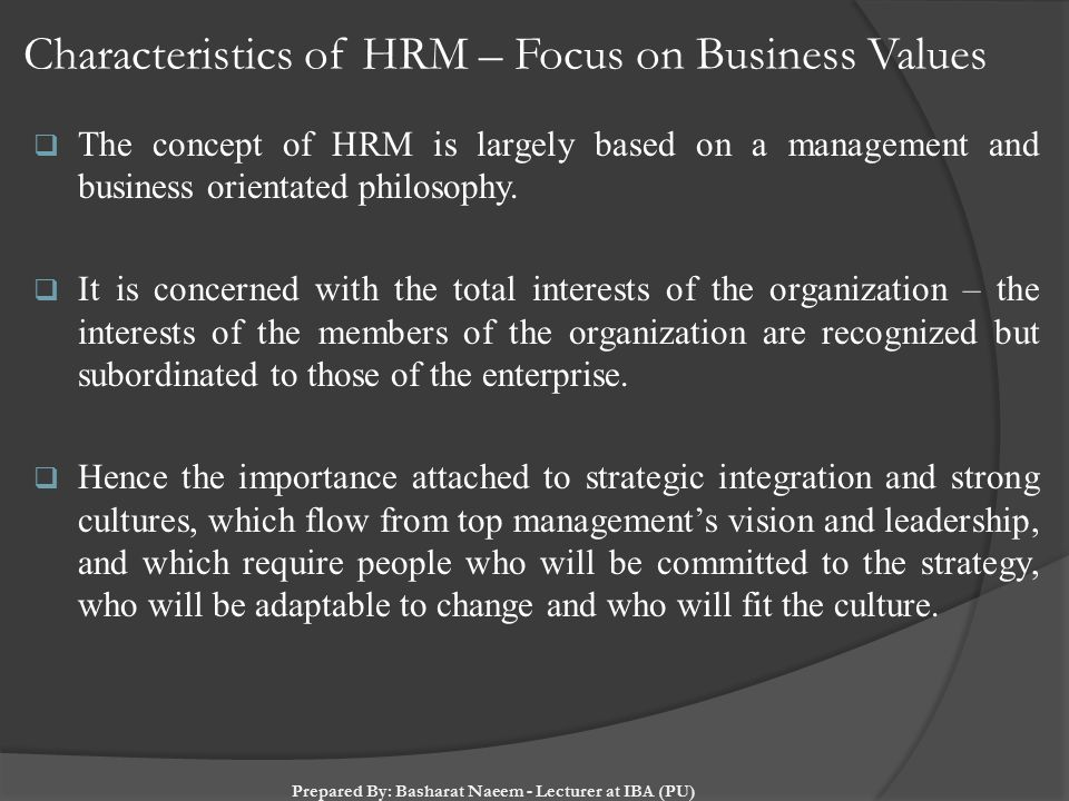 the value of hrm to business organisations essay This essay is to write a discussion paper which argues the benefits or disadvantages of human resources being a strategic business partner giving consideration human resources strategies within a business, which will enable the organization to human resource management essays.