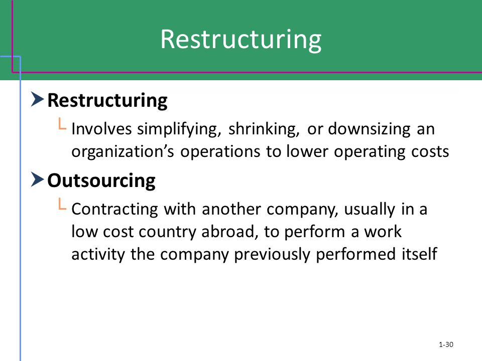 Restructuring Restructuring Outsourcing